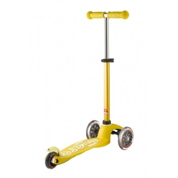 Laste kolmerattaline tõukeratas Mini Deluxe kollane