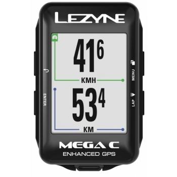 Lezyne Mega C GPS rattakompuuter, must