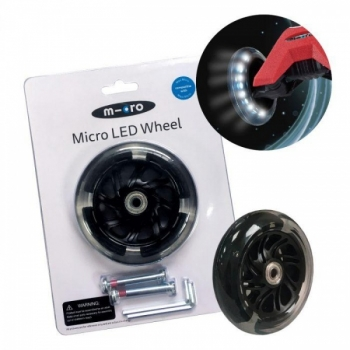 Micro Maxi tõukeratta varurattad LED tuledega, 120mm