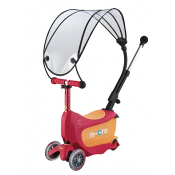 Mini2go Deluxe Varjuga rubiinpunane