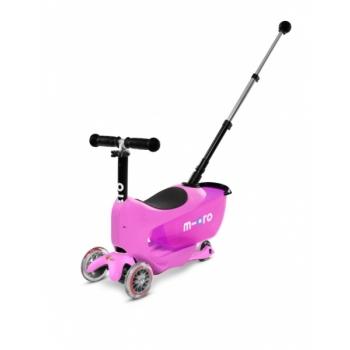 Micro Mini2go Deluxe Plus tõukeratas, roosa