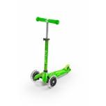 Laste kolmerattaline tõukeratas Mini Deluxe LED roheline