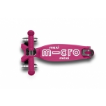 Micro Maxi Deluxe LED kokkuvolditav tõukeratas, marjapunane